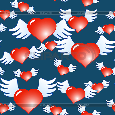 Dark blue background of red hearts | Stock Vector Graphics |ID 3013394