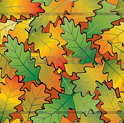 Liście dębu abstrakcyjne tło. Seamless. | Klipart wektorowy |ID 3013484