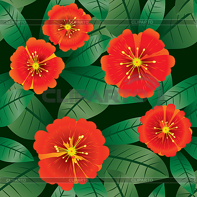 Kwiaty w tle | Klipart wektorowy |ID 3013486