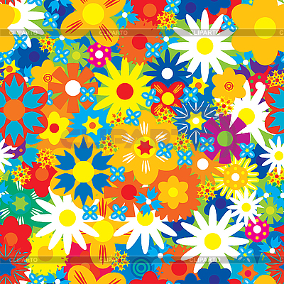 Seamless flowers background | Stock Vector Graphics |ID 3013526