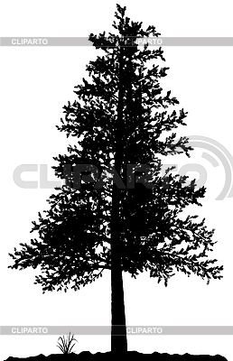 나무 실루엣 | 벡터 클립 아트 |ID 3013584