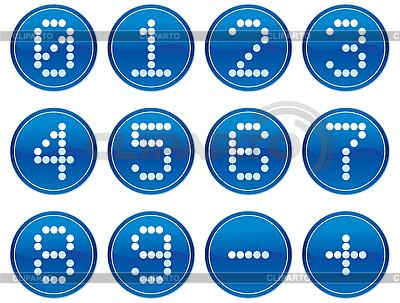 矩阵数字图标设置。 | 向量插图 |ID 3013590