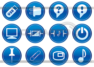 Icons for gadget   Stock Vector Graphics  ID 3013644