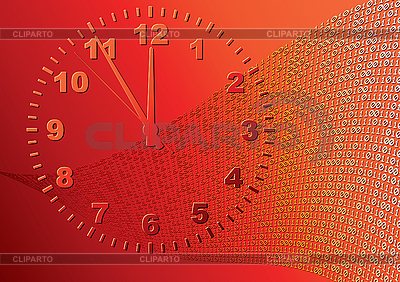 Abstract orange background. Time.   Stock Vector Graphics  ID 3013672