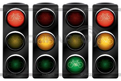 Sygnalizacji świetlnej dla rowerów. | Klipart wektorowy |ID 3013718