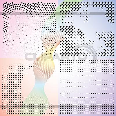 Abstrakcyjne tła gradientu z kropkami   Klipart wektorowy  ID 3013905