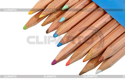 Set von bunten Holz-Bleistiften | Foto mit hoher Auflösung |ID 3032738