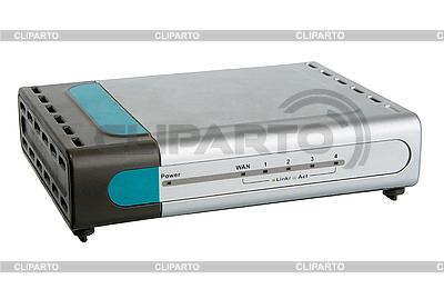 Przedni panel routera sieci | Foto stockowe wysokiej rozdzielczości |ID 3032775