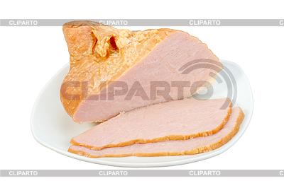 Geschnetzeltes Fleisch auf weißem Teller | Foto mit hoher Auflösung |ID 3032855