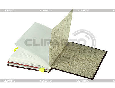 Notebook opened on last page   High resolution stock photo  ID 3032864