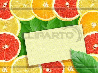 Tła z owoców cytrusowych plasterki z ramą | Foto stockowe wysokiej rozdzielczości |ID 3032943