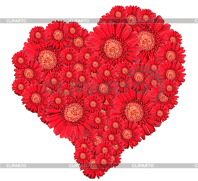 Bukiet kwiatów czerwonych w sercu | Foto stockowe wysokiej rozdzielczości |ID 3032956