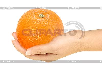 Orange in hand | Foto stockowe wysokiej rozdzielczości |ID 3032971