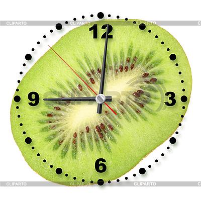 Kiwi slice as clock | High resolution stock photo |ID 3033086
