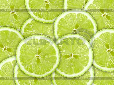 Zielonym tle z wapna plasterki | Foto stockowe wysokiej rozdzielczości |ID 3033233