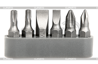 Set of steel bits for screwdriver | High resolution stock photo |ID 3035887