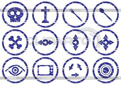 Gadget icons grunge set | Stock Vector Graphics |ID 3063461