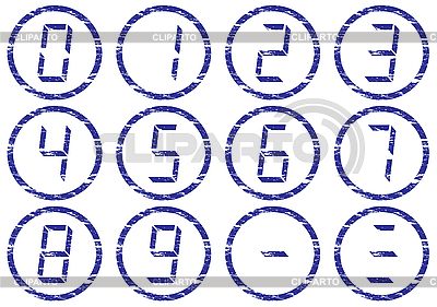 Ciecz cyfry grunge zestaw ikon crystal | Klipart wektorowy |ID 3063467
