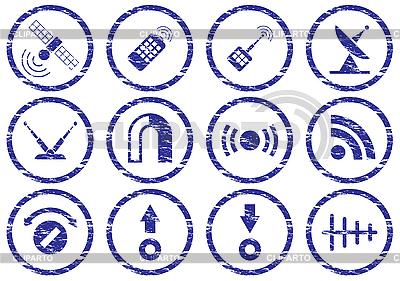 Gadget icons grunge set | Stock Vector Graphics |ID 3063473