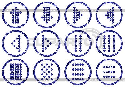 매트릭스 기호 아이콘을 설정 | 벡터 클립 아트 |ID 3063485