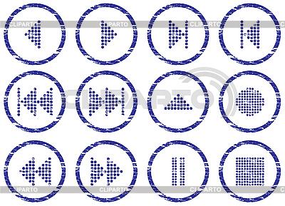 Multimedia zestaw przycisków nawigacyjnych | Klipart wektorowy |ID 3063495