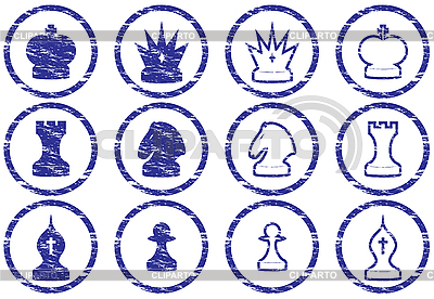 Chess icons set | Stock Vector Graphics |ID 3063519