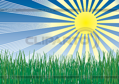 Grass, sun and sky | Stock Vector Graphics |ID 3063539