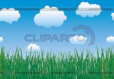 草地和天空 | 向量插图 |ID 3063575