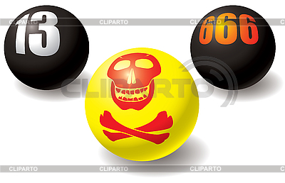 Evil set of balls | Stock Vector Graphics |ID 3064095