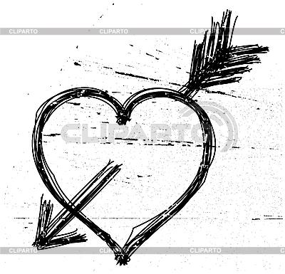 Symbol serca grunge | Klipart wektorowy |ID 3064871