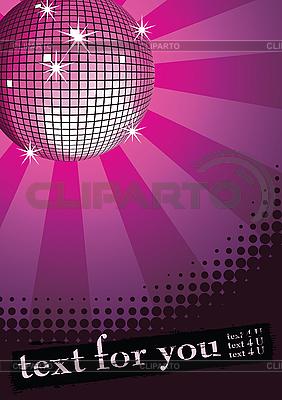 Disco ball purple   Stock Vector Graphics  ID 3064877