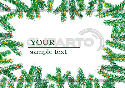 Christmas tree branchs frame | Stock Vector Graphics |ID 3064893