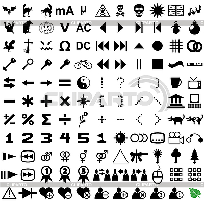 121 pictograms | Stock Vector Graphics |ID 3064901