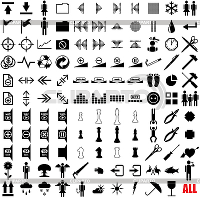 121 pictograms | Stock Vector Graphics |ID 3064907