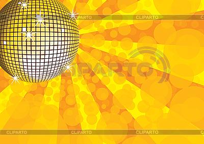 Żółty lustro disco ball | Klipart wektorowy |ID 3064915