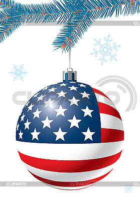 Christmas ball with US flag | Stock Vector Graphics |ID 3064943