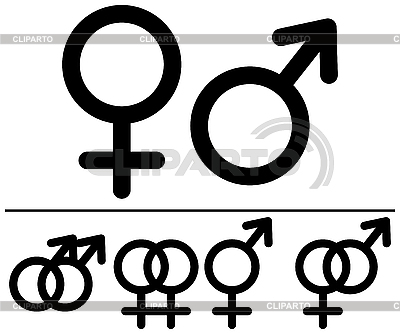 Male and female symbols | Stock Vector Graphics |ID 3064983