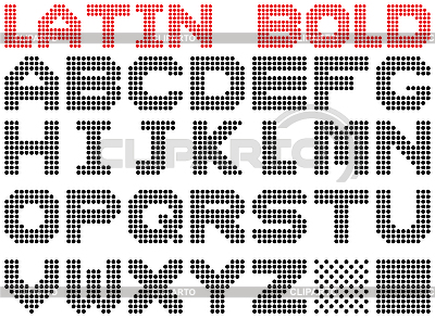 Bold dotted alphabet   Stock Vector Graphics  ID 3064991