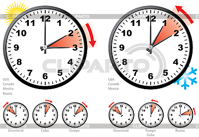 Daylight Saving Time | Stock Vector Graphics |ID 3065007