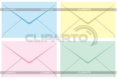 封筒の色のセット | ベクターイラスト |ID 3065051