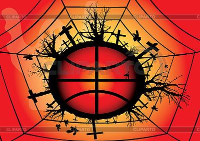 Rotes globales Halloween-Design | Stock Vektorgrafik |ID 3065069