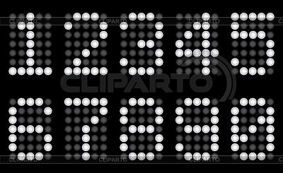White matrix digits | Stock Vector Graphics |ID 3065094