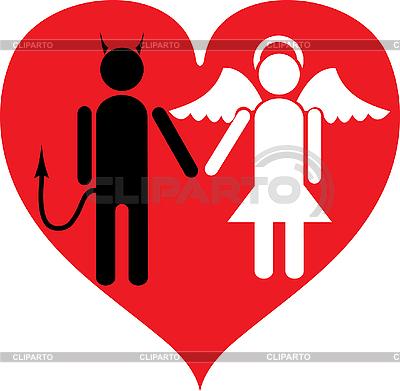 Diabeł i Anioł | Klipart wektorowy |ID 3129250