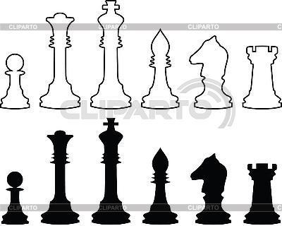 Шахматные фигуры для печати