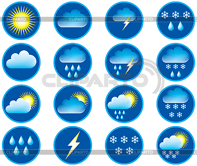 Symbols for the indication of weather | Stock Vector Graphics |ID 3133028