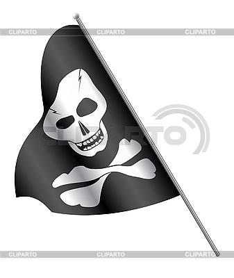 Piraten-Flagge: Schädel und gekreuzte Knochen | Stock Vektorgrafik |ID 3138571