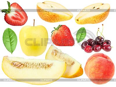 Set von frischem Obst und berryes | Foto mit hoher Auflösung |ID 3141688