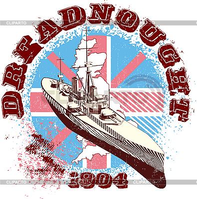 Dreadnought 1904 | Klipart wektorowy |ID 3014794