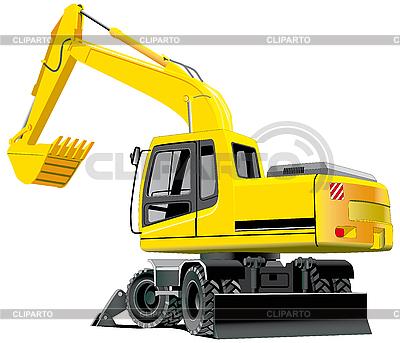 挖掘机   向量插图  ID 3014808
