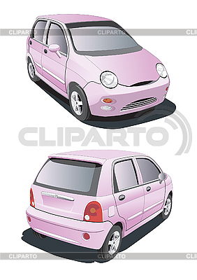 Little pink car | Stock Vector Graphics |ID 3014840